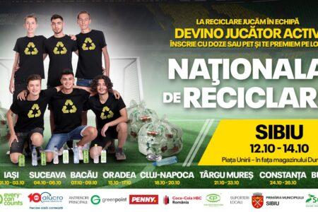 Naționala de Reciclare ajunge la Sibiu. Premii pentru cine aduce doze de aluminiu și PET-uri în fața Magazinului Dumbrava