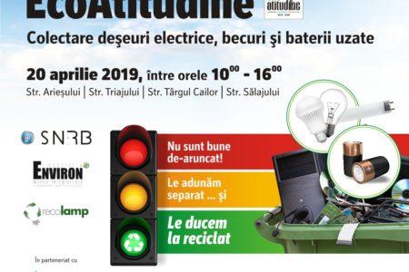 Împreună colectăm deșeuri electrice, becuri și baterii uzate