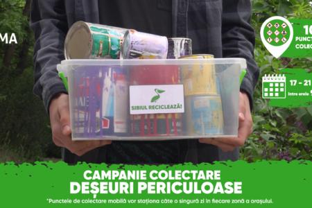 Sibiul se debarasează sigur și gratuit de deșeurile periculoase
