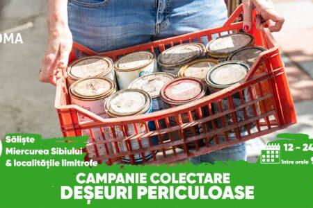 Mărginimea Sibiului se debarasează gratuit de deșeurile periculoase